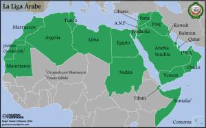 Mapa Liga Árabe
