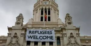 refugiados bienvenidos a madrid