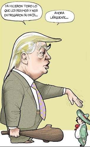 Ha empezado en los EEUU... - Página 2 Caricaturas-donald-trump-dibujos-humor